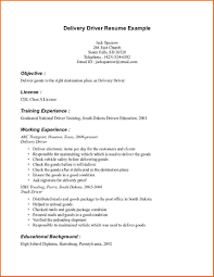 Ideas Collection Sample Resume Delivery Driver On Resume