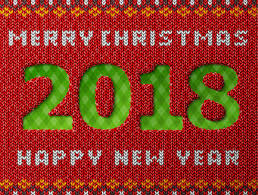 New Year 2018 As Hole In Knitted Background Stock Illustration - Download  Image Now - iStock