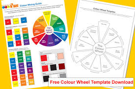 Not only does this color wheel printable offer a clear understanding of how color moves along the wheel but it offers a key to show kids how the colors mix. Free School Paint Colour Mixing Guide For Kids Fas Fine Art Supplies Ltd