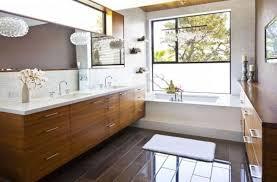 mid century modern bathroom vanity. Shining Brown Floor Tiles With Elegant Laminate Vanity Ideas For Large Mid Century Modern Bathroom Long Frameless Mirror O