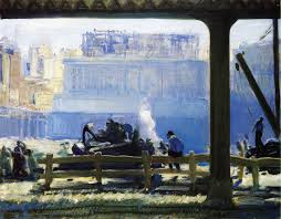 blue morning george wesley bellows oil painting