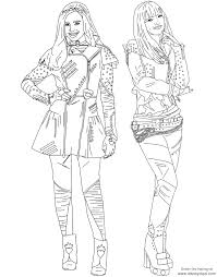 Descendants Coloring Pages Mal And Evie