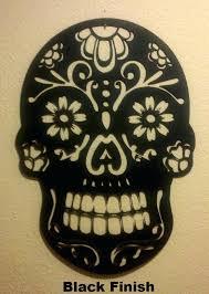 sugar skull wall art day of the dead skull wall art sugar skull metal wall art