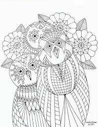 Small Picture 323 best Coloring pages Owls images on Pinterest Owls Adult