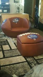 brand new bud light football chair w ottoman that doubles as cooler for in mount pleasant wi offerup
