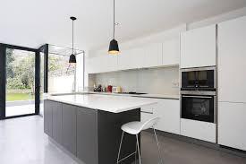 handlelessmattgreykitchenisland madina kitchens matt grey kitchen doors