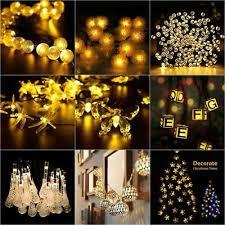 solar string lights warm white 20 50 led lighting outdoor garden fairy lamp