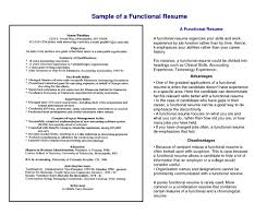 Resume Format Computer Skills Functional When To Use A Inside 89