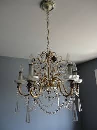 brass and glass chandelier makeover home design ideas