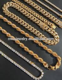 whole iced out hip hop gold mens jewelry mjcn080