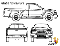 coloring truck gmc canyon at yescoloring gmc sierra pickup