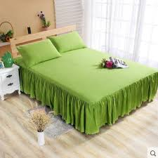 green single ruffle bedding bed spreads cover sheet valance bed skirt 0 7x1 9m