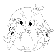 Save The Earth Coloring Pages Printable Save The Earth Colouring