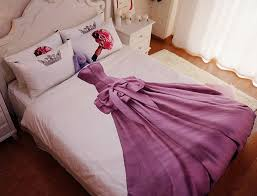queen size princess bedding sets kids teen girls 100 cotton bed sheets duvet cover set bedspread bed in a bag full double linen in bedding sets from home