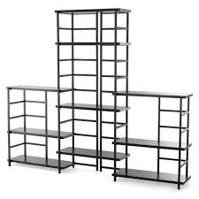 YPPERLIG shelf unit, light gray, birch Width: 59