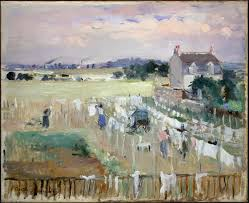 hanging the laundry out to dry 1875 national gallery of art