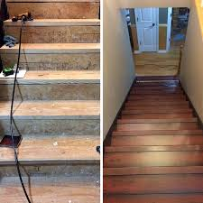 fancy idea how to install wood flooring on stairs stair tread much cost