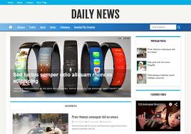 Daily News Blogger Template Free Download