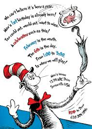 the cat in the hat birthday invitation printable birthdays the cat in the hat birthday invitation printable