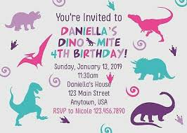 Dinosaur Birthday Invitation Dinosaur Birthday Invitation Dinosaurs Dinosaur Party