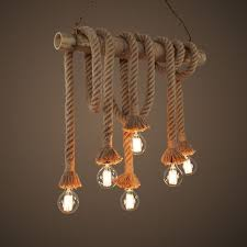nautical rope pendant light