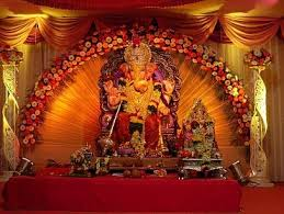 flower decoration for pooja ganesha chaturthi decorations