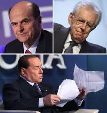 Berlusconi, Monti, Bersani