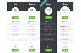 Pricing Table Templates Pin On I N F O