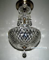 vintage petite crystal prism chandelier glass pendant ceiling lamp light fixture