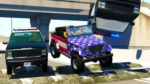 POLICE CHASES INTERRUPTED BY MONSTER SIZED SPEED BUMPS! - BeamNG ...