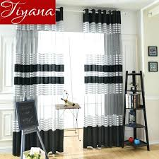 black and white fl window curtains window curtains for modern living room white black color striped blackout