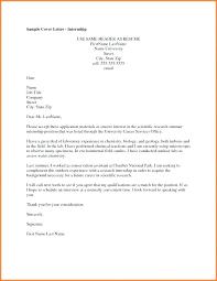 Application Sample For Internship Applying For An Internship Cover Letter Cover Letter For Internship