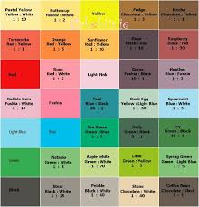 Wilton Color Mixing Chart Wilton Gel Food Coloring Chart Food