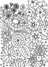 Small Picture Flower in My Garden Coloring Page NetArt