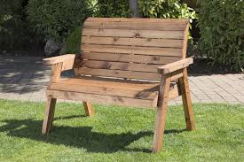 uk handmade fully assembled heavy duty wooden garden bench 2 seater bench uk gardens co uk