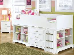 white twin storage bed. Plain Storage Girl Storage Beds White Twin Mid High Loft Bed For All Little  O