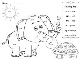 Sight Word Coloring Pages Worksheets First Grade Pdf Printable Easy