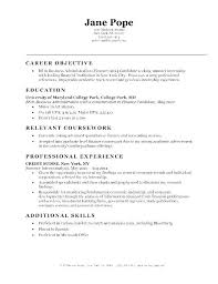 Examples Of Resume Objectives Simple Sample Resume Objectives For A Supervisory Position Administrative