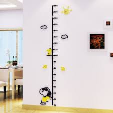 Wall Measuring Chart 2pcs One Set Height Measuring Chart Wall Sticker For Children Room