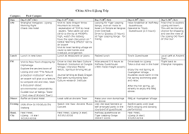 Sample Itinerary Forms Itinerary Format Omfar Mcpgroup Co
