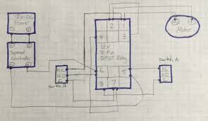 dc motor speed controller causing relay to lose voltage and stop here is my wiring diagram enter image description here