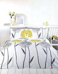 small size of callium dandelion lemon yellow beige grey white duvet cover quilt bedding set grey