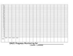 Graphing Progress Charts Daze Progress Monitoring Graph