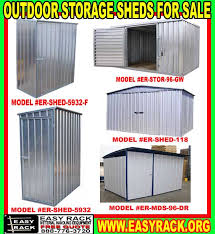 metal outdoor metal storage sheds building kits for material handling equipment company