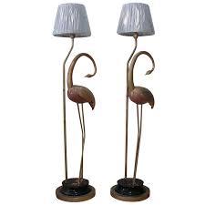 Stylized Flamingo Floor Lamps Pair Chairish The White Room