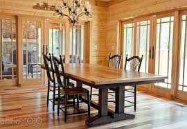 Dining Room Tables Reclaimed Wood Bistro Dining Table Modern Industrial Design Steel Reclaimed Wood