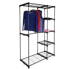 closet organizer storage rack portable clothes hanger home garment shelf com