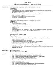 Resume Sample Language Skills Language Resume Samples Velvet Jobs 23