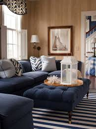 Nautical Living Room Design Nautical Living Room Decorating With Navy Blue Furniture