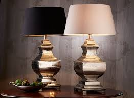 bedside table lamps silver